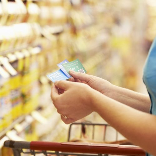 Buy grocery products and use deals to save amount